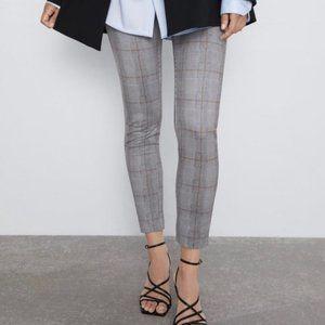Zara Grey Plaid Skinny Legging Dress Pants